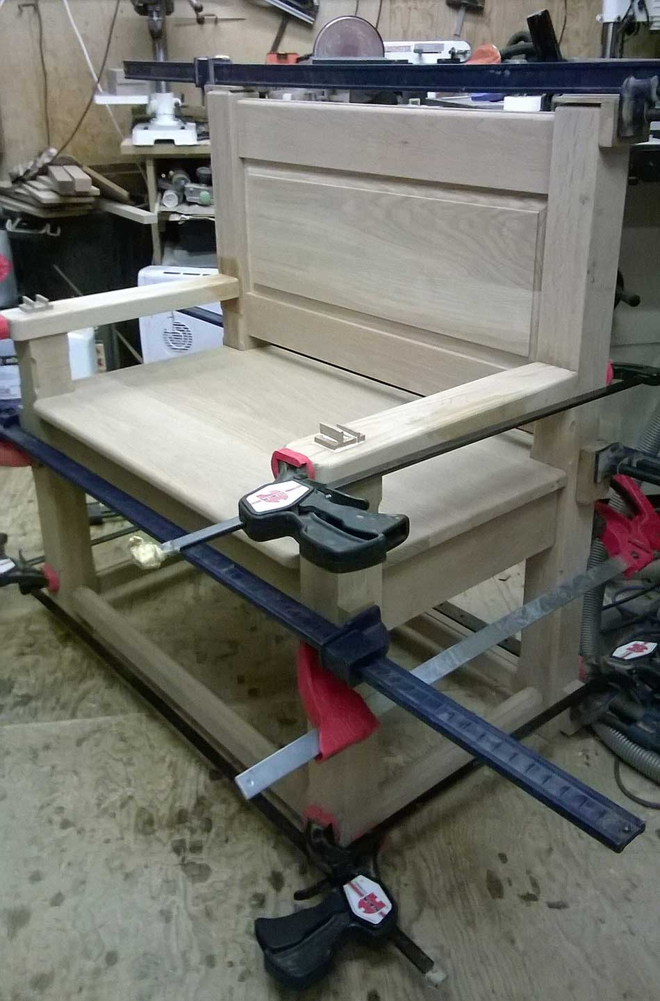 Clamped Up - Bench & Cupboard