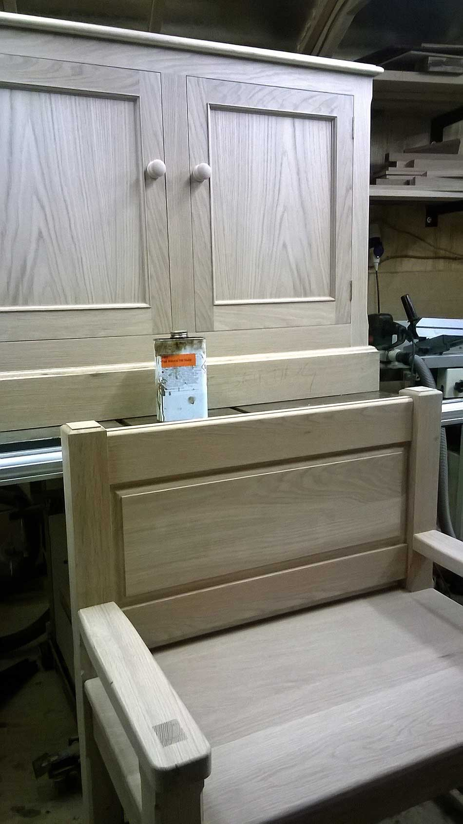 Ready For Stain, Bench & Cupboard